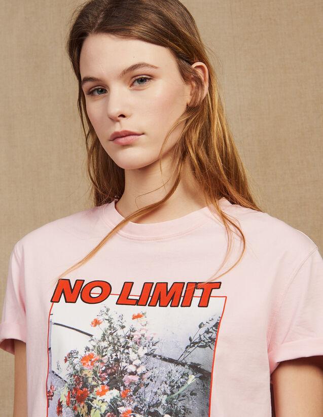 T-Shirt Mit Ikonographie Und Schriftzug : null farbe Rosa