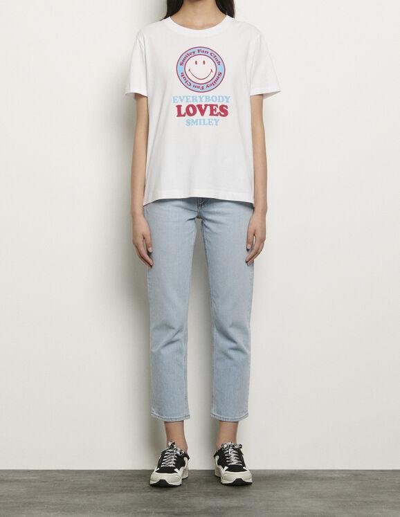 T-Shirt aus Öko-Baumwolle mit Motiven : T-shirts farbe Weiss/Blau