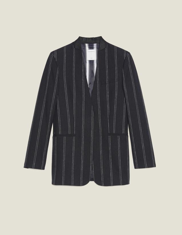 Blazer Mit Passenden Streifen : Blousons & Jacken farbe Schwarz