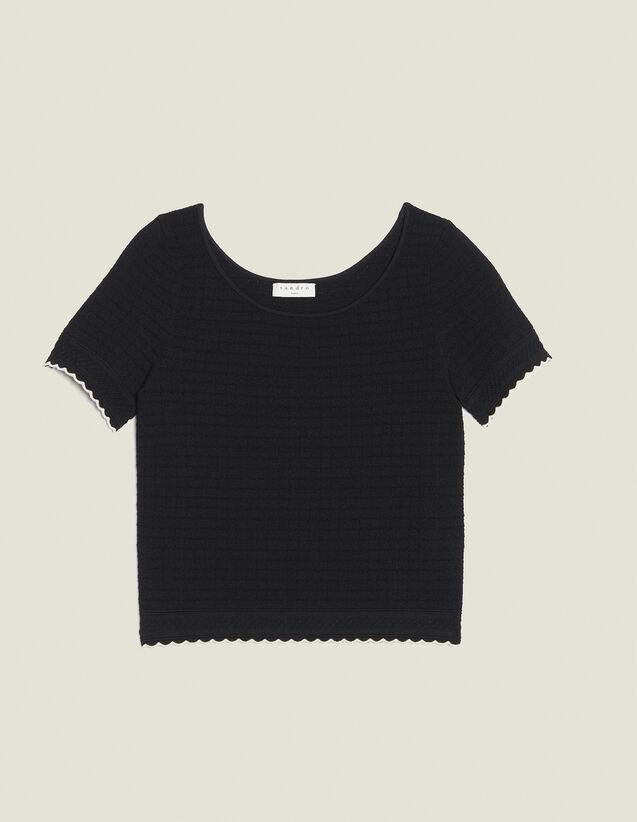 Stricktop Mit Kurzen Ärmeln : Tops & Hemden farbe Schwarz
