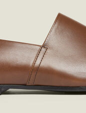 Slippers Aus Leder : Schuhe farbe Braun