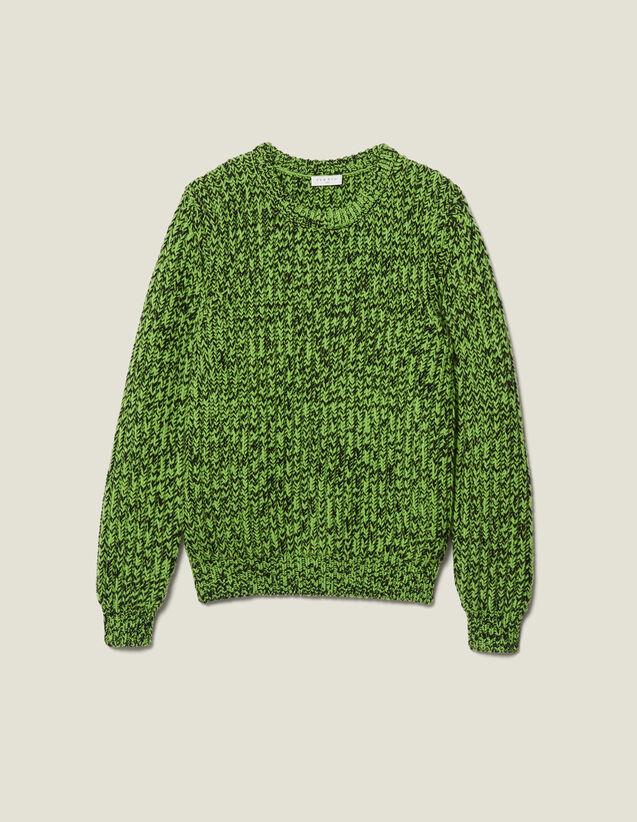 Pullover Aus Mouliné-Strick : Pullovers & Cardigans farbe Vert/Noir