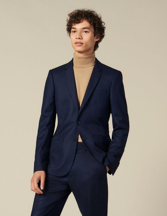 Anzugsakko aus Wolle : Anzüge & Smokings farbe Marine