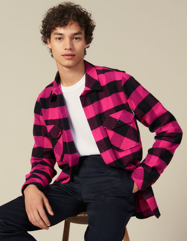Hemd Aus Baumwolle Mit Karomuster : Neue Kollektion farbe Rosa