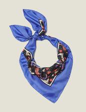 Halstuch Aus Seide Mit Santiag-Miniprint : Scarves farbe Blau