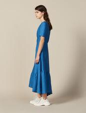 Langes Kleid Mit Bezogenem Ring : Kleider farbe Bleu jean
