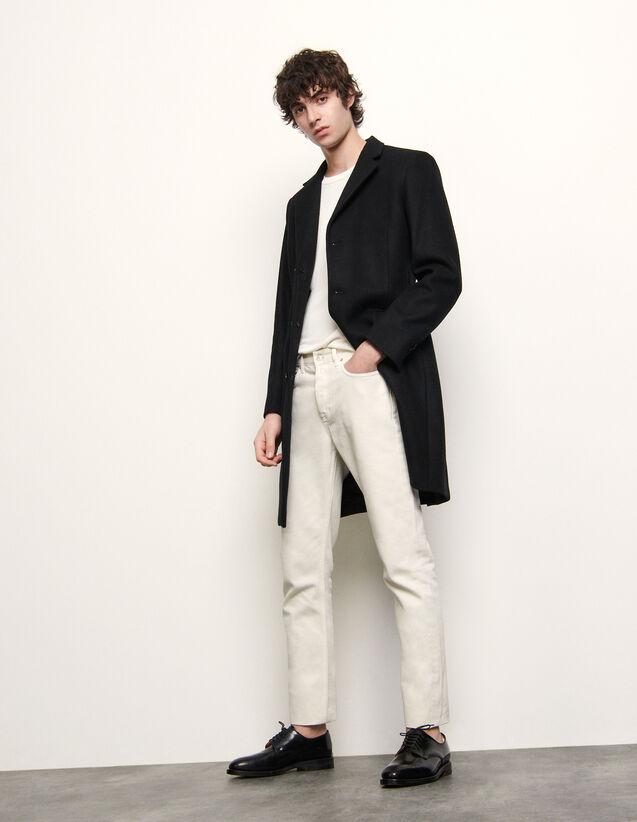 Langer Mantel mit drei Knöpfen : Trench & Mäntel farbe Bordeaux