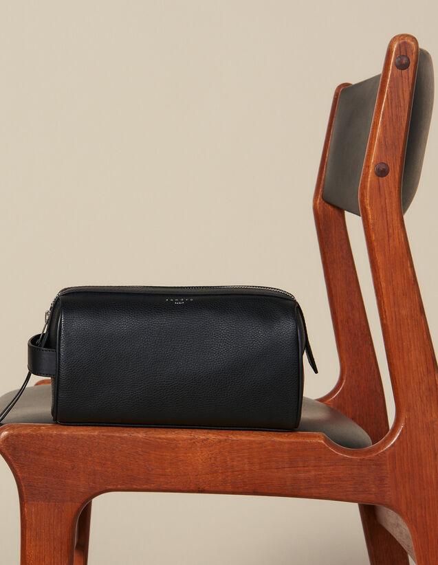 Kulturtasche : Alle Lederwaren farbe Schwarz