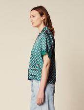Hemdbluse Im Pyjamastil : null farbe Grün