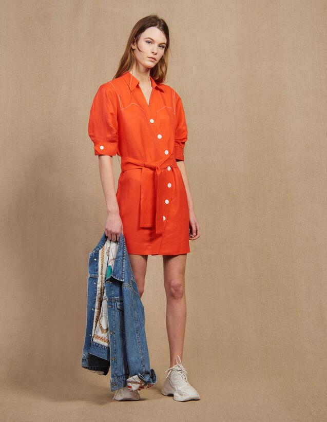 Kurzes Kleid Mit Asymmetrischer Knöpfung : LastChance-FR-FSelection farbe Schwarz