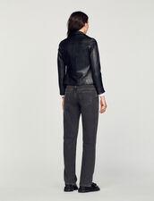 Zweireihiger Blouson : Blousons & Jacken farbe Schwarz