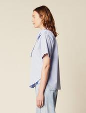 Popelinehemd Mit Kurzen Ärmeln : null farbe Blau