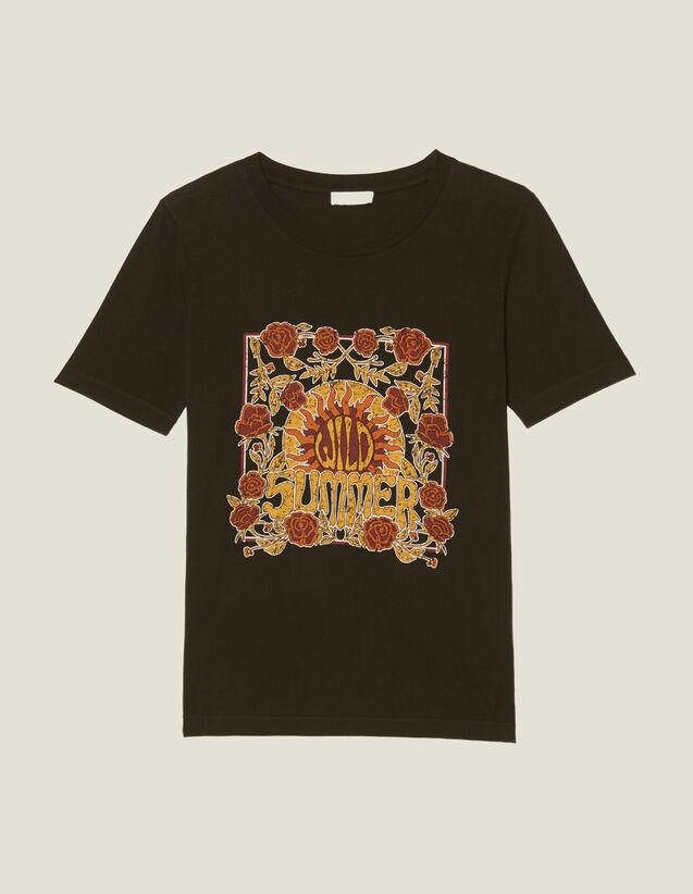 T-Shirt Mit Platziertem Motiv : T-shirts farbe Schwarz