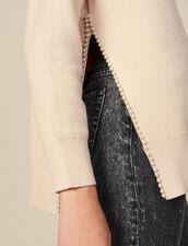 Pullover mit perlenbesticktem Schlitz : FBlackFriday-FR-FSelection-30 farbe Beige