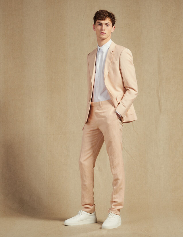 Anzughose Aus Leinenmischung : Anzüge & Smokings farbe Blassrosa