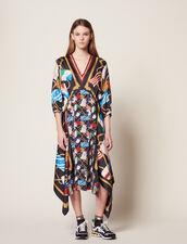 Langes Kleid Mit Print : null farbe Schwarz