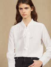 Hemdbluse Mit Halskrause : Tops & Hemden farbe Weiß