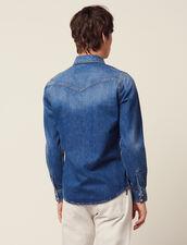 Hemd Aus Verwaschenem Denim : Sélection Last Chance farbe Blue Vintage - Denim