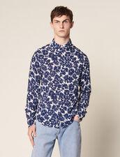 Fließendes Hemd Mit Blumenprint : Hemden farbe Marine