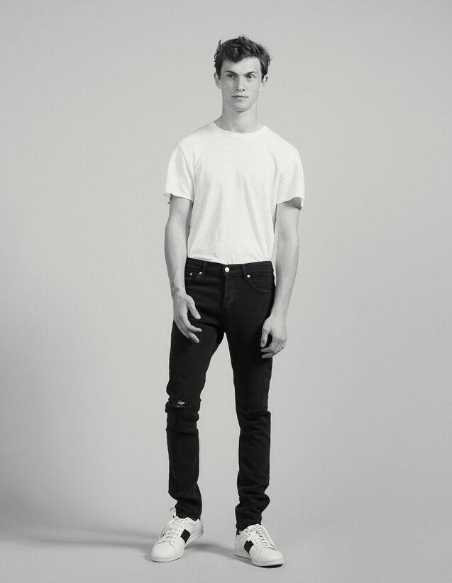Jeans Destroy – Passform: Skinny : Jeans farbe Schwarz