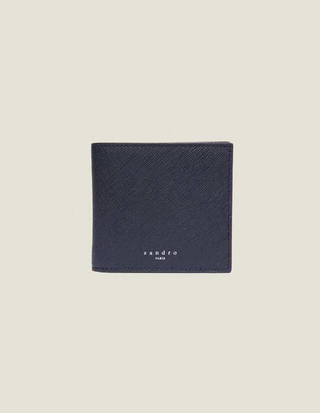 Überschlag-Brieftasche, Saffiano-Leder : Kartenhalter & Brieftaschen farbe Schwarz