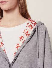 Kapuzen-Cardiganmit Innenfutter : Pullover & Cardigans farbe Grau