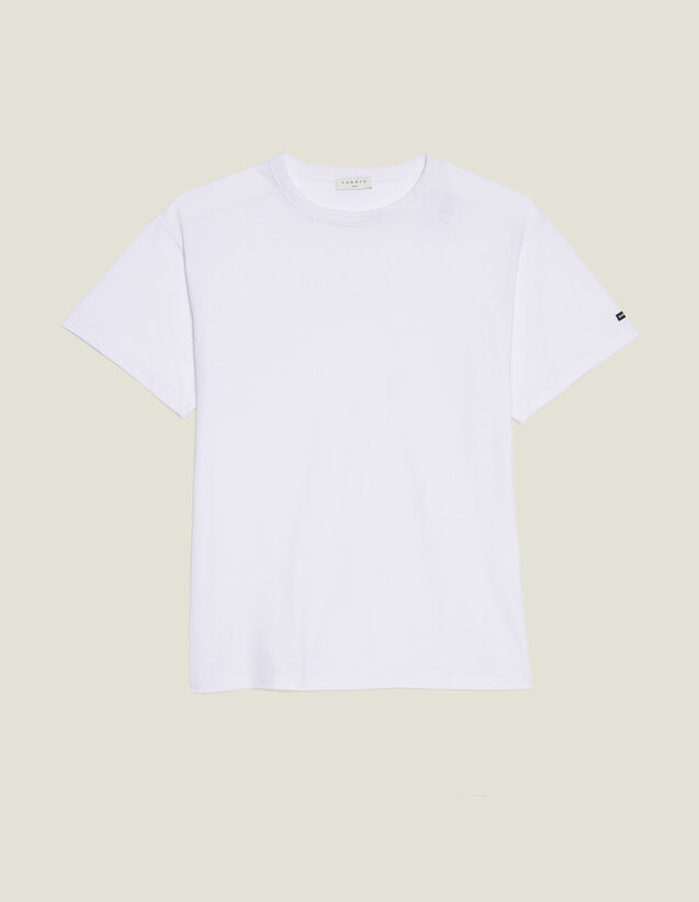 Oversize T-Shirt Aus Baumwolle : T-Shirts & Polos farbe Weiß