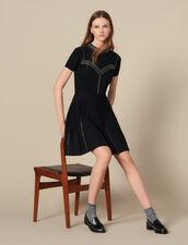 Kurzes Strickkleid Mit Nietenverzierung : Kleider farbe Schwarz