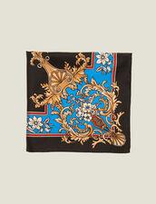 Halstuch Aus Seide Mit Baroque-Print : Scarves farbe Schwarz
