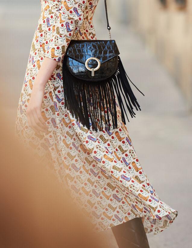 Pépita Tasche Kleines Modell Mit Fransen : Die ganze Winterkollektion farbe Schwarz
