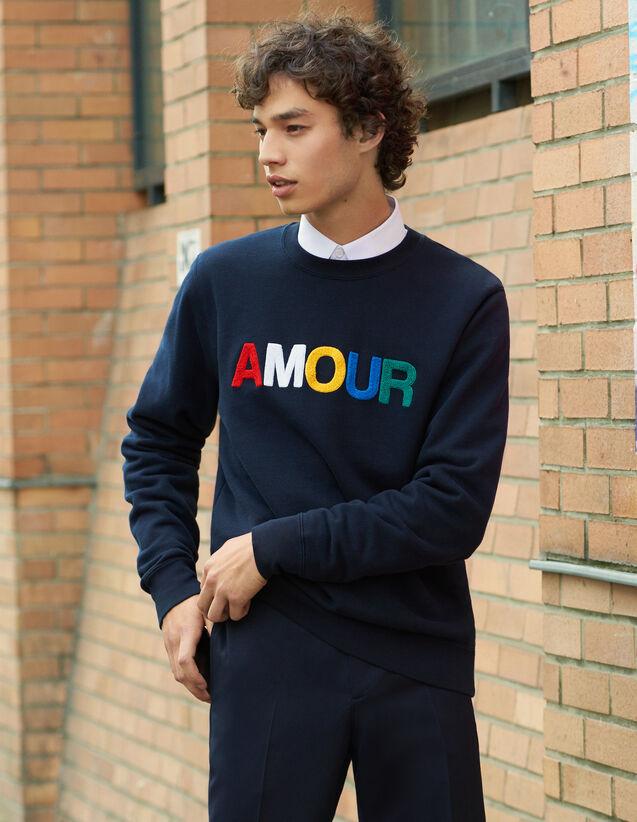 Sweatshirt Mit Schriftzug Aus Molton : Winterkollektion farbe Weiß