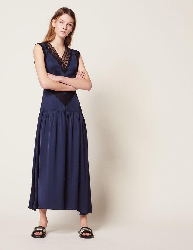 Langes Fließendes Kleid : Kleider farbe Marine