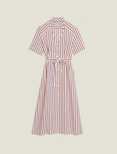 Langes Hemdkleid Mit Feinen Streifen : null farbe Bordeaux