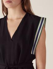 Ärmelloses Top Mit Bindegürtel : Bedrucktes Hemd farbe Schwarz