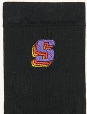 Strümpfe mit Logo : Socken farbe Schwarz