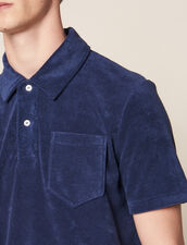 Poloshirt Aus Frottee : Sélection Last Chance farbe Marine