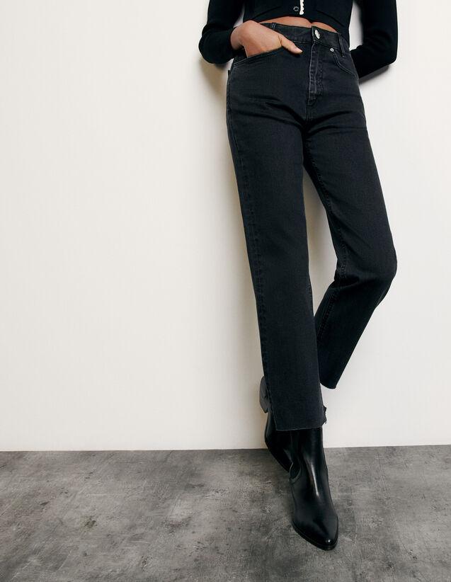 Gerade geschnittene Jeans : Sommerkollektion farbe Black - Denim