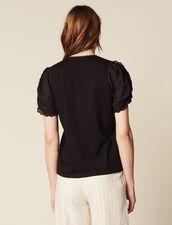 T-Shirt Mit Kurzen Puffärmeln : T-shirts farbe Schwarz