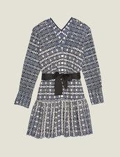 Kurzes Kleid Mit Lochstickerei : null farbe Marine