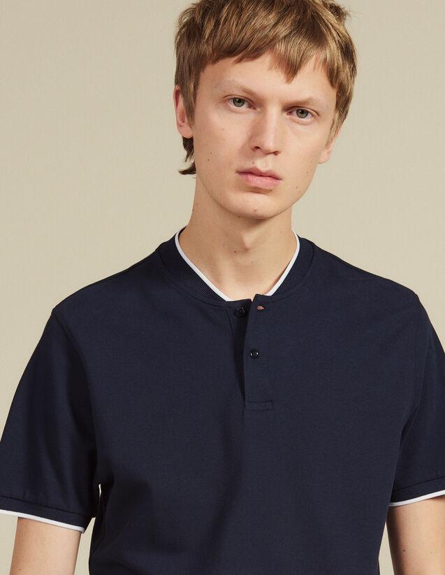 Poloshirt Mit Kontrastierendem Kragen : Neue Kollektion farbe Marine