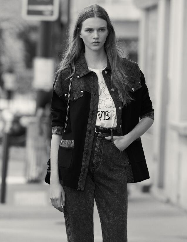 Cardigan Mit Jeanseinsatz : Pullover & Cardigans farbe Schwarz