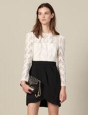Kleid mit Trompe-l œil-Effekt : Kleider farbe Schwarz