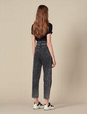 Neige Jeans mit nietenbesetztem Gürtel : LastChance-ES-F50 farbe Schwarz