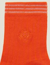 Baumwollstrümpfe Mit Stickerei : LastChance-FR-FSelection farbe Orange Zinnoberrot