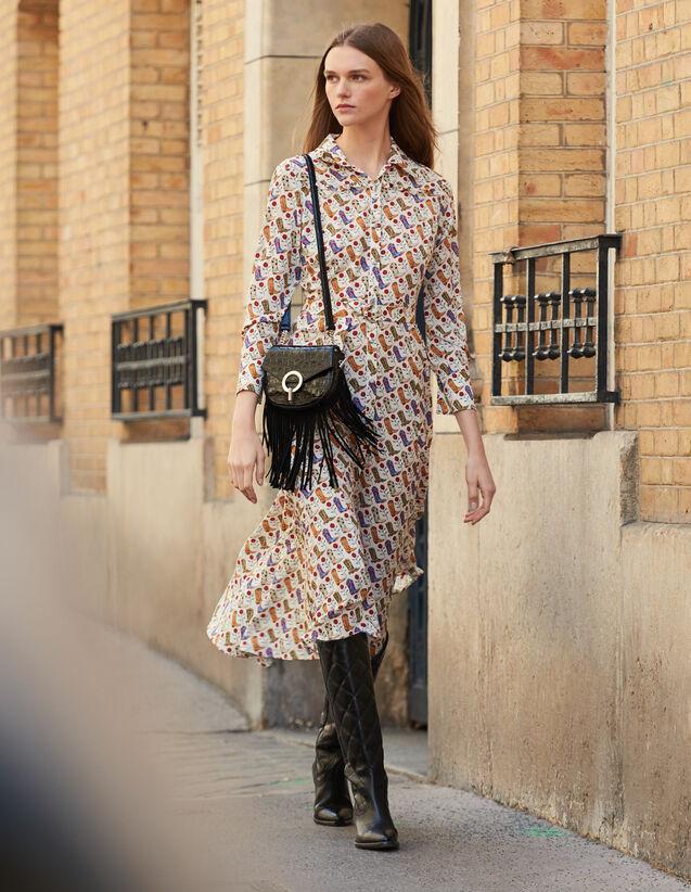 Hemdkleid mit Santiagprint : Kleider farbe Bunt