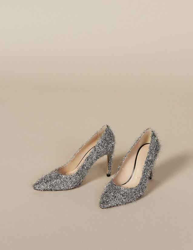 Pumps mit V-Ausschnitt : FBlackFriday-FR-Selection-Chaussures farbe Silber