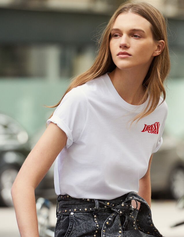 T-Shirt Aus Baumwolle Mit Schriftzug : VP-UK-FSelection-PAP&ACCESS farbe Weiß