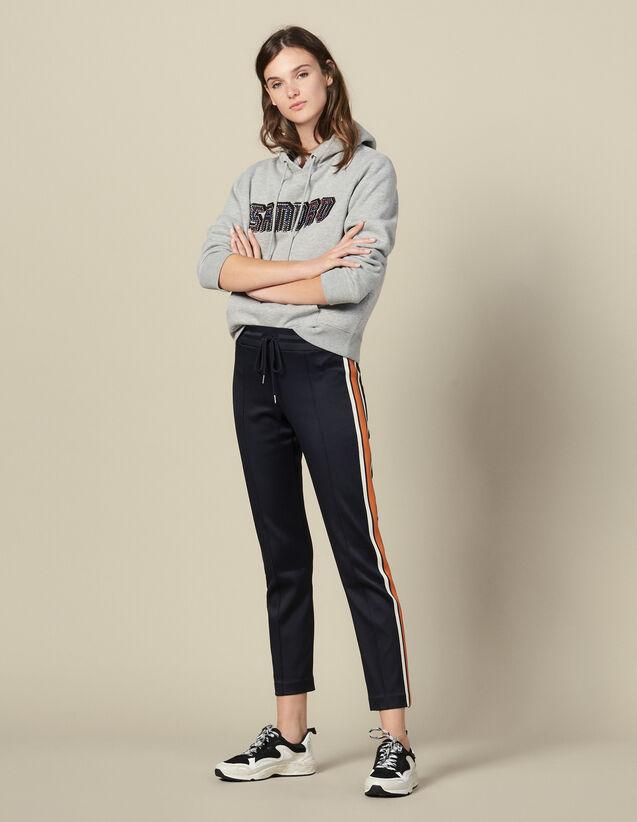 Jersey-Jogginghose Mit Streifen : FBlackFriday-FR-FSelection-Pantalons&Jeans farbe Marine