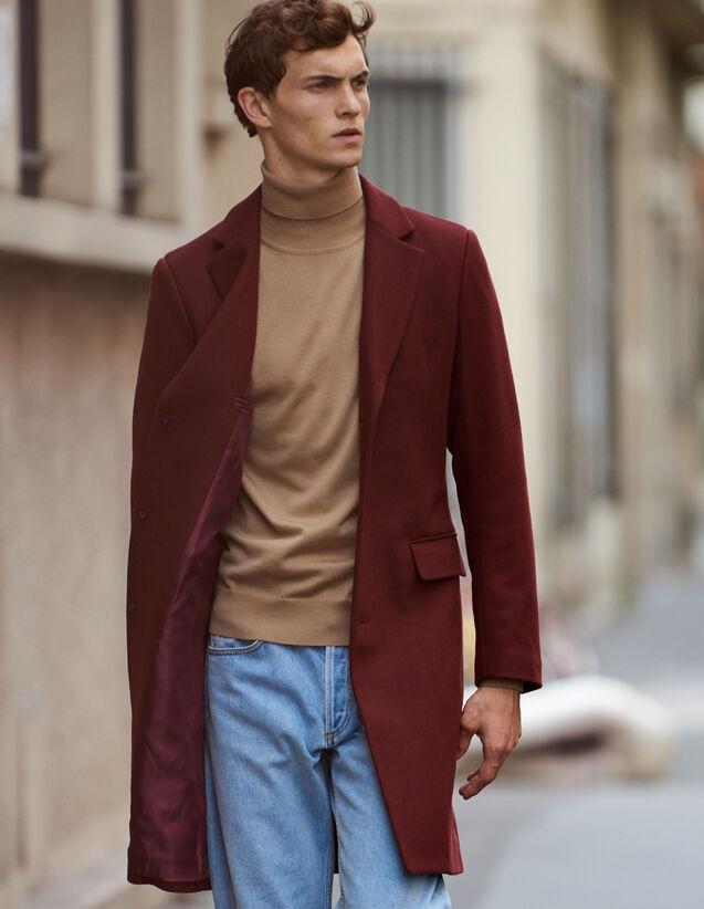 Langer Mantel mit drei Knöpfen : Trench & Mäntel farbe Marine