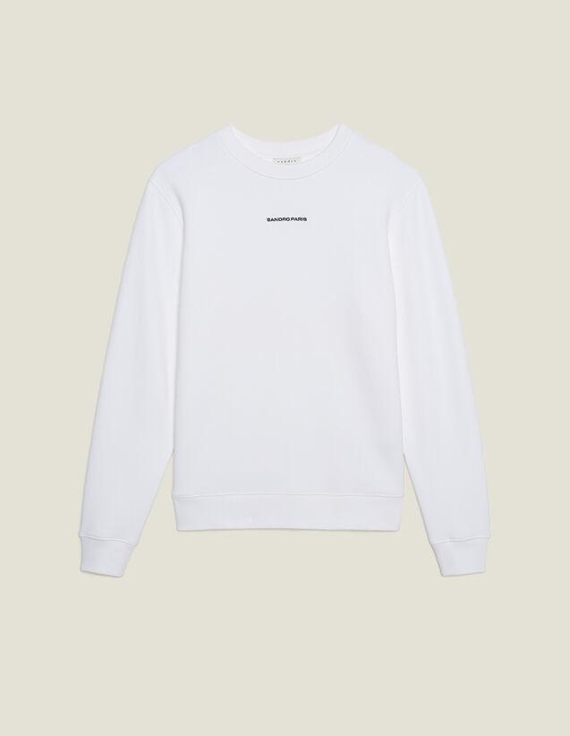 Sweatshirt Mit Logo-Stickerei : Sweatshirts farbe Weiß